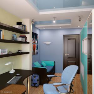 Дизайн интерьера четырех комнатной квартиры Запорожье