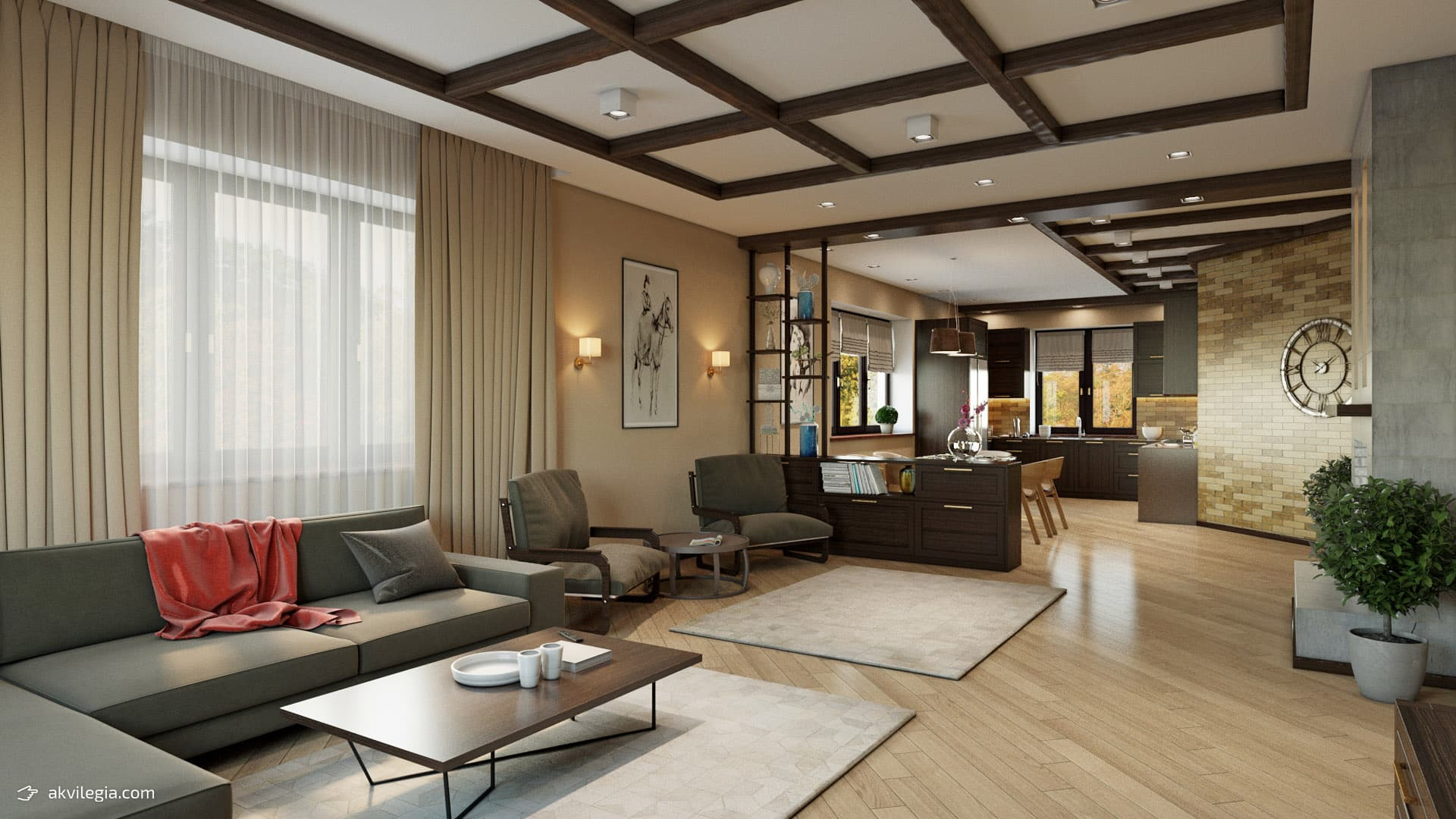 Интерьер гостиной 1 этаж