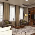 дизайн-проект гостиной дома
