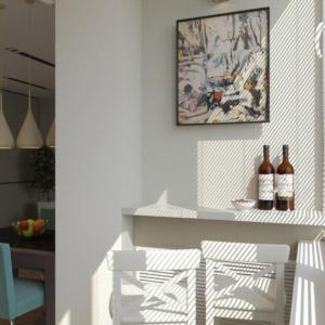 Дизайн трех-комнатной квартиры-студии