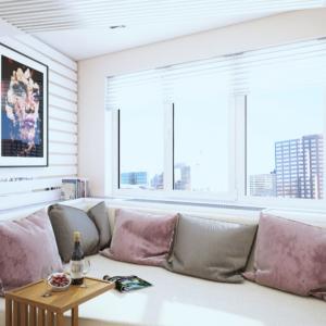 дизайн двухэтажной квартиры-студии