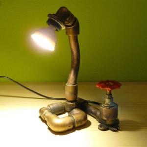 декоративный светильник сияние трубы