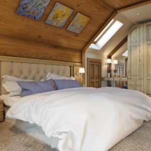 дизайн интерьера дома в стиле шале