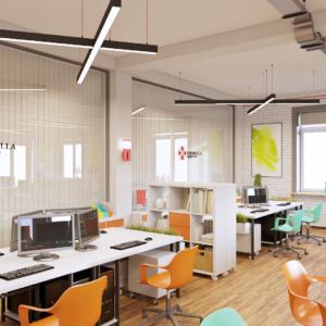 Дизайн интерьера офиса IT компании Запорожье