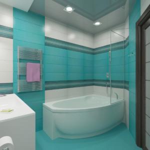 Дизайн-проект квартиры-студиии Запорожье ванная