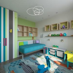 Дизайн-проект квартиры-студиии Запорожье детская