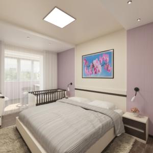 Дизайн-проект квартиры-студиии Запорожье спальня