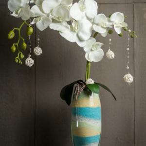 Интерьерная цветочная композиция Белая Орхидея