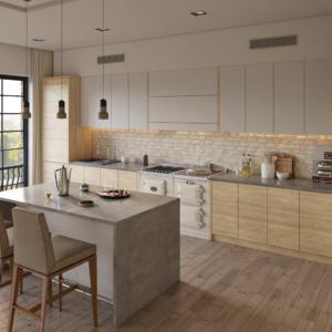 дизайн интерьера пентхауса кухня
