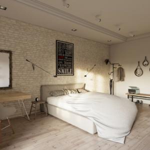 дизайн интерьера пентхауса спальня