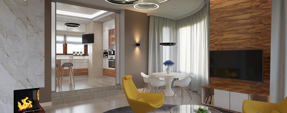 дизайн загородного дома гостиная