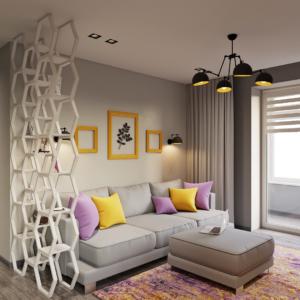дизайн интерьера двухкомнатной квартиры в стиле футуризм