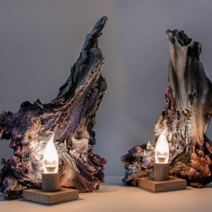 настольный светильник две скалы