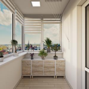 проект дизайна квартиры в эко-стиле детская