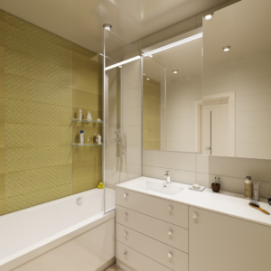 проект дизайна квартиры в эко-стиле санузел