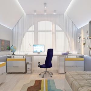 дизайн-проект двухэтажной квартиры