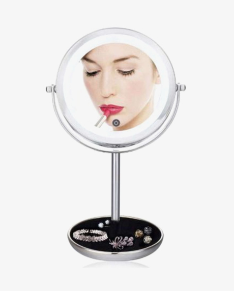 двойное-зеркало-для-макияжа-с-LED--подсветкой-5X-0