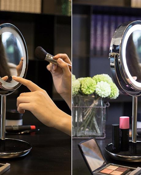 двойное-зеркало-для-макияжа-с-LED--подсветкой-5X-4