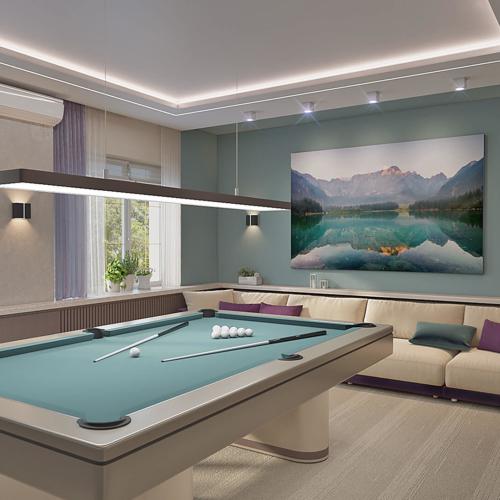 дизайн дома на великом луге бильярдная