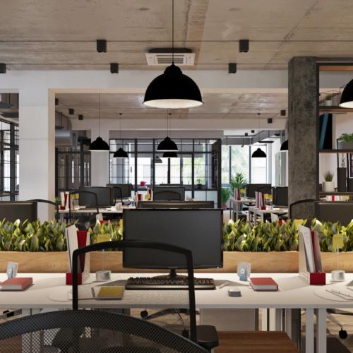 дизайн офиса кондитерской компании