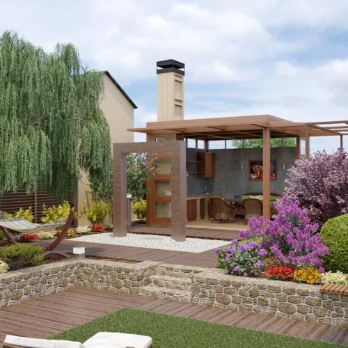 Эскизный  проект, Интерьер, 3D,сауна,  Дизайн, реконструкция , ландшафтный дизайн,  кабинет , японский сад , дендролог, минимализм,  душ во дворе, бочка, декоративные камни, мощение, светодизайн, уличное освещение, умный дом, Полив, навес, дизайн  Запорожье, дизайн экстерьера