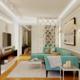 Дизайн проект четырехкомнатной квартиры в новостройке с камином