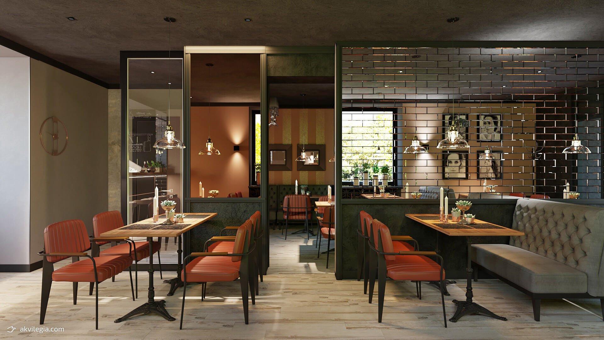 дизайн проект экстерьера кафе-бара