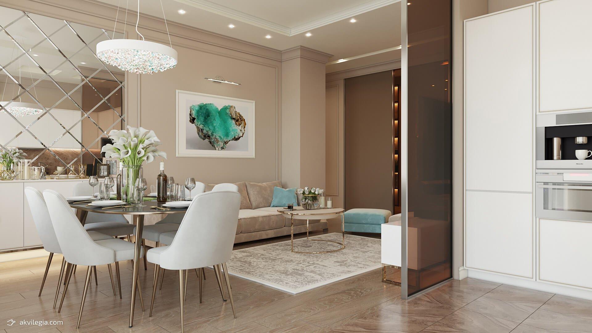 дизайн трехкомнатной квартиры полы фото