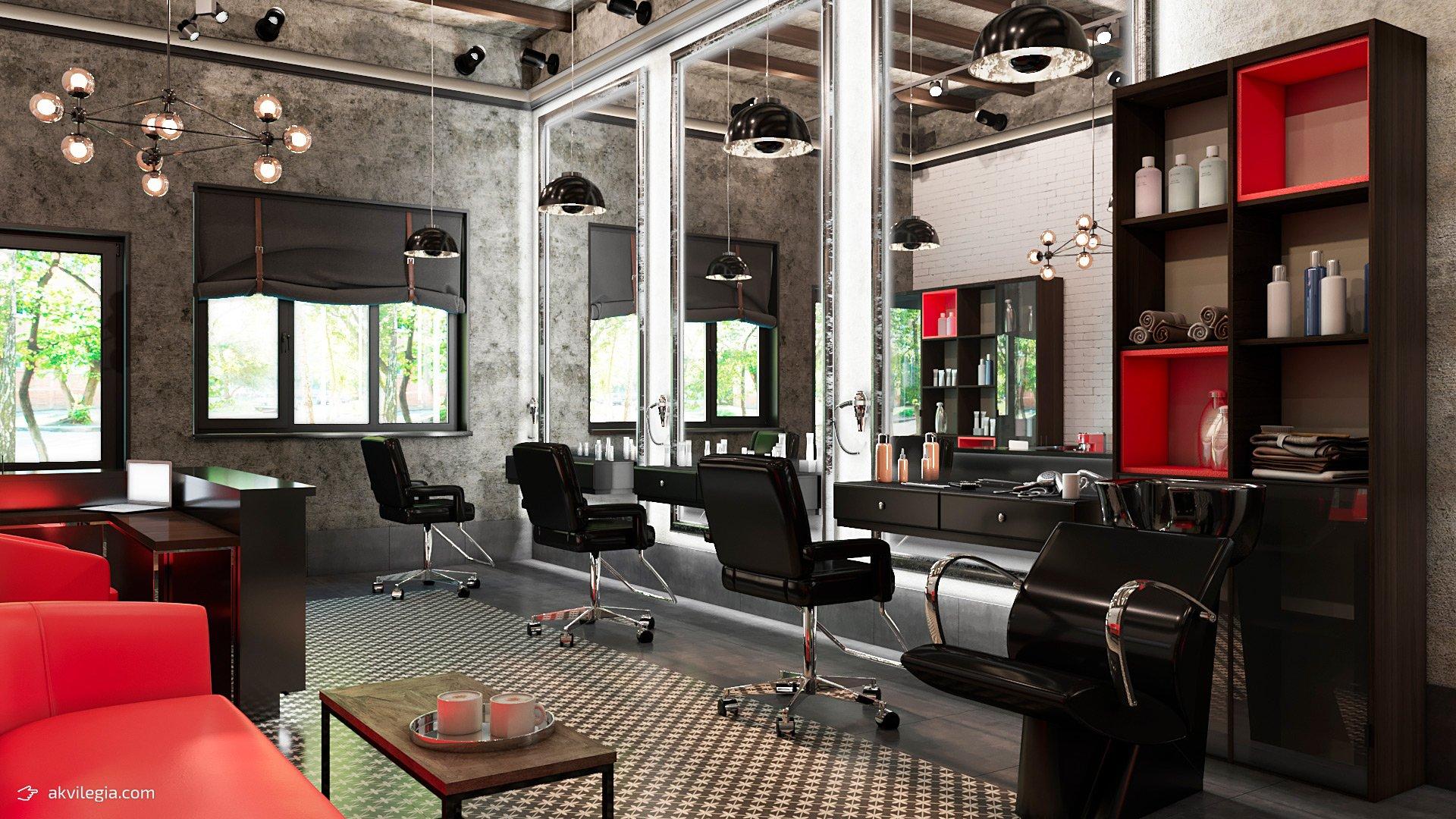 Дизайн салона красоты в стиле «Лофт» от компании «Все Для Салона» | 1080x1920