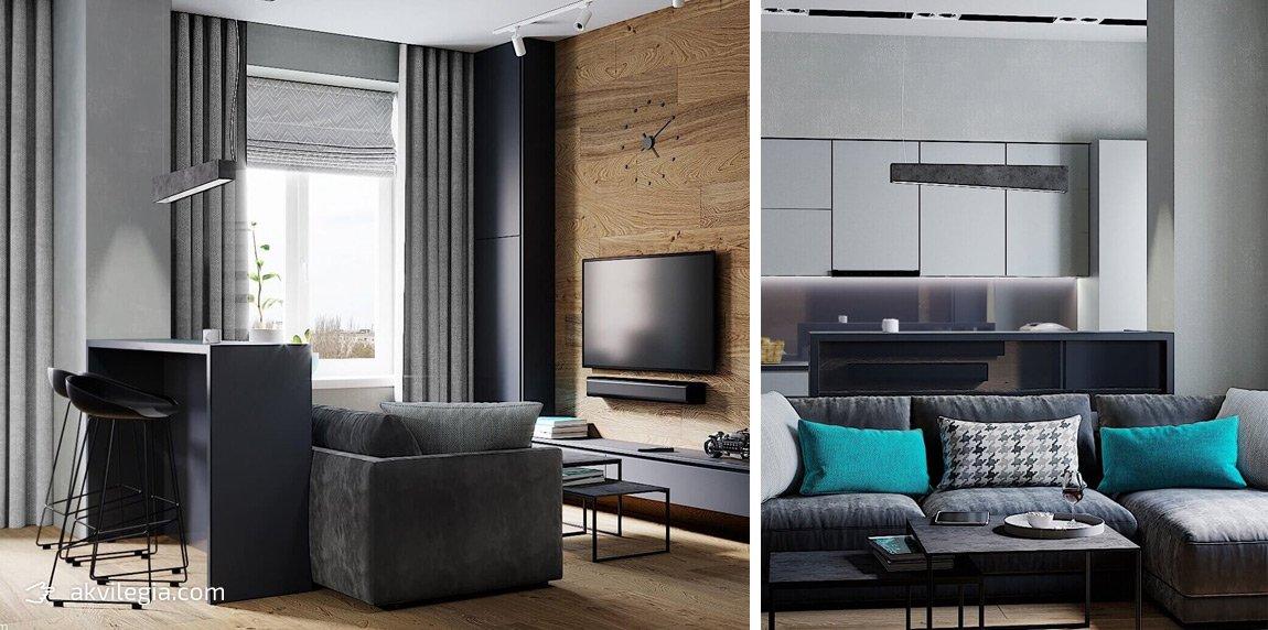 интерьерный дизайн малогаборитной квартиры