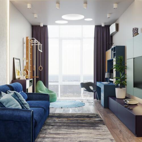 дизайн интерьера квартиры в новостройке десткая