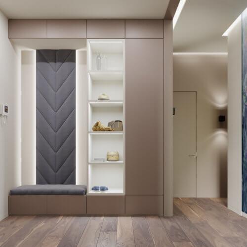 дизайн интерьера квартиры в новостройке прихожая