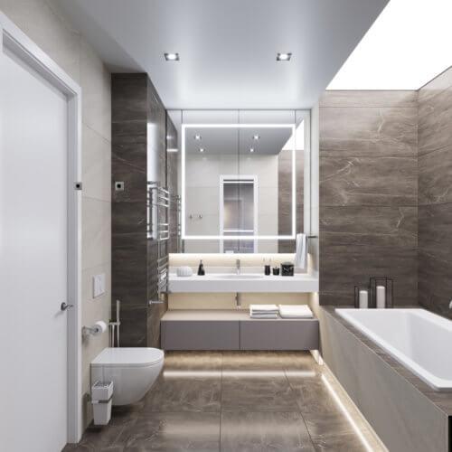 дизайн интерьера квартиры в новостройке санузел