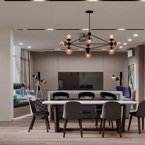 дизайн интерьера квартиры в новостройке гостиная