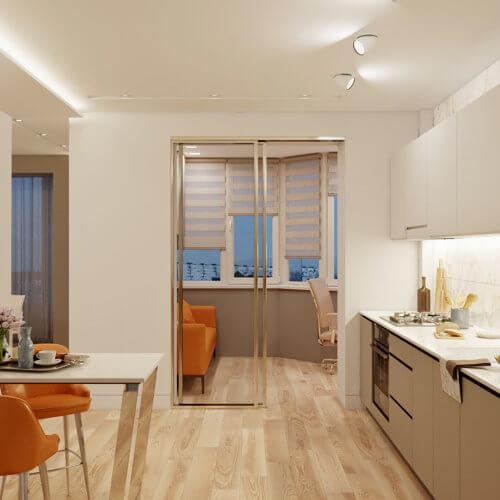 дизайн проект трехкомнатной квартиры в новостройке гостиная
