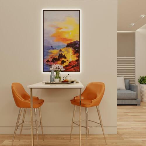 дизайн проект трехкомнатной квартиры в новостройке Запорожье