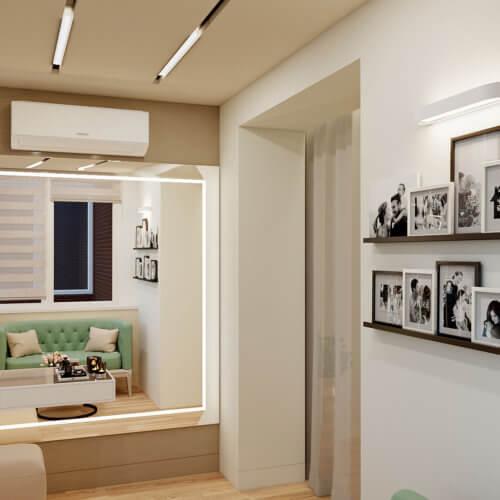 дизайн проект трехкомнатной квартиры в новостройке