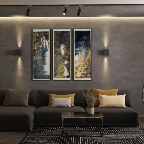 дизайн двухкомнатной квартиры лофт