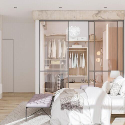Дизайн квартиры в скандинавском стиле спальня