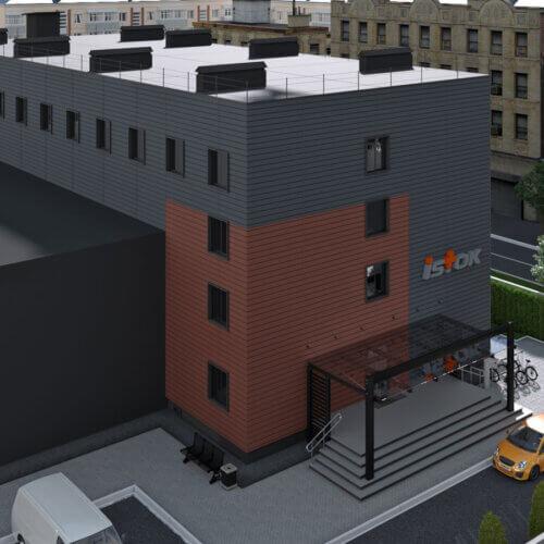 Эскизный проект фасада здания