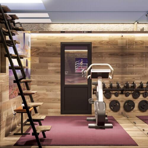 дизайн проект мини спортзала