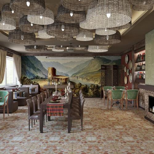 дизайн грузинского ресторана днепр саперави