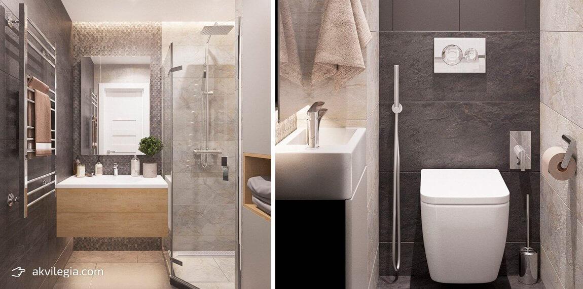 современный дизайн квартиры ванная туалет