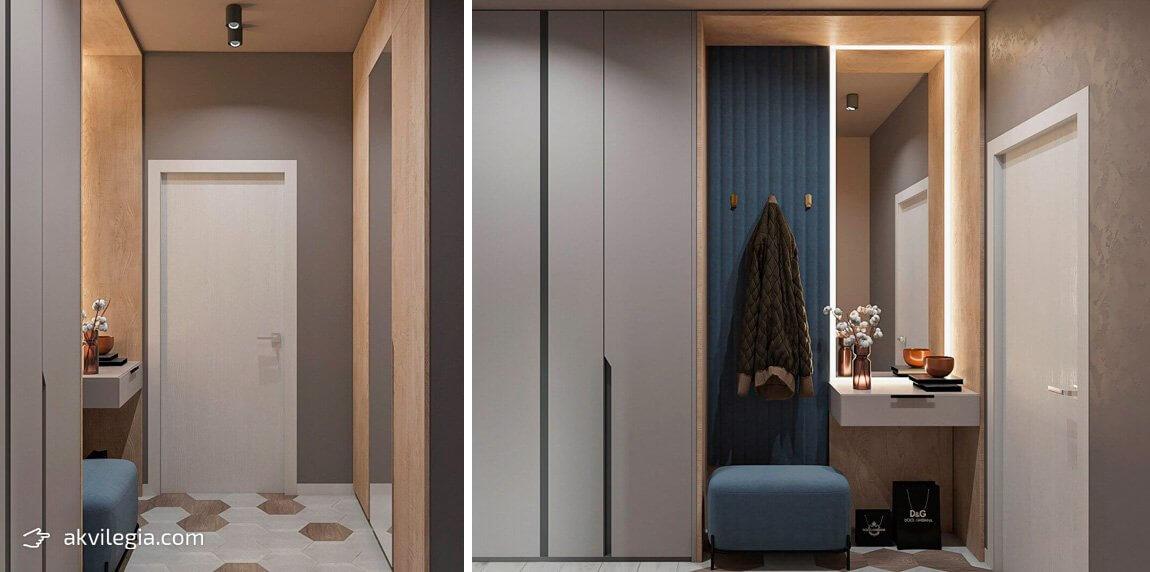 современный дизайн квартиры прихожая