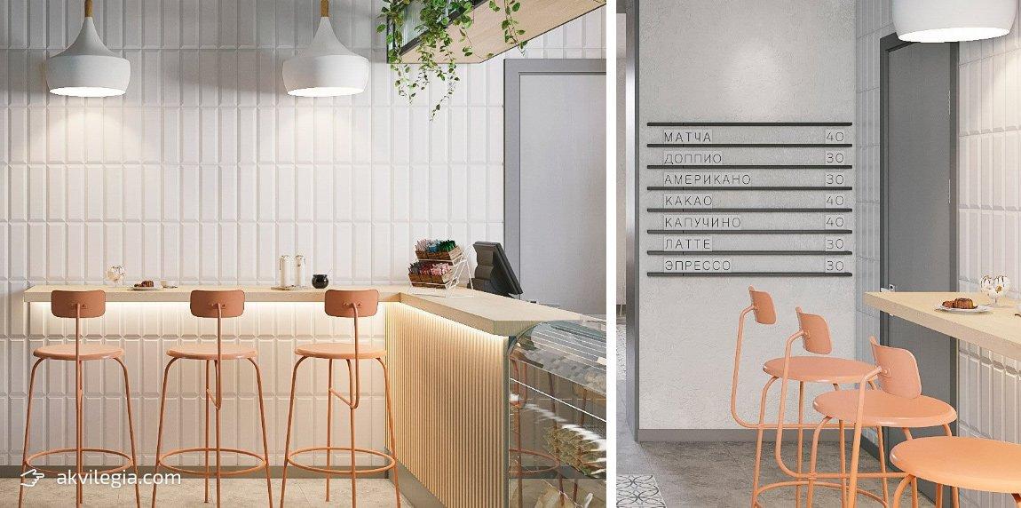 дизайн интерьера кафе токмак