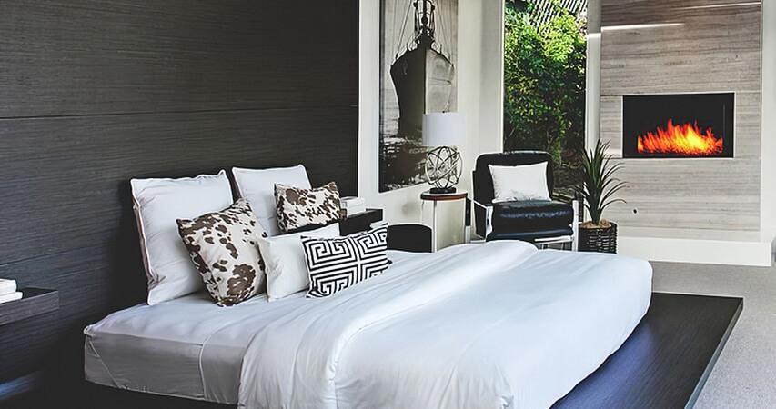 дизайн интерьера спальни в минимализме