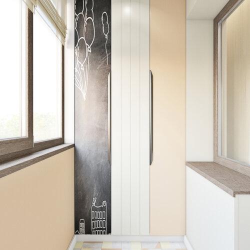дизайн квартиры в контемпорари балкон