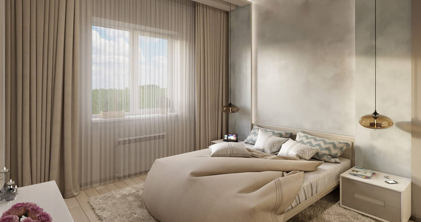 дизайн спальни в минимализме