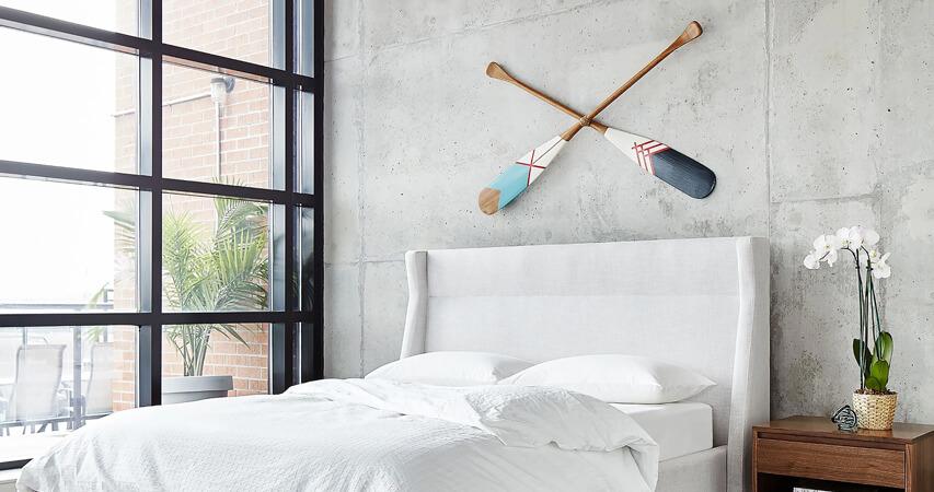 интерьер спальни в минимализме