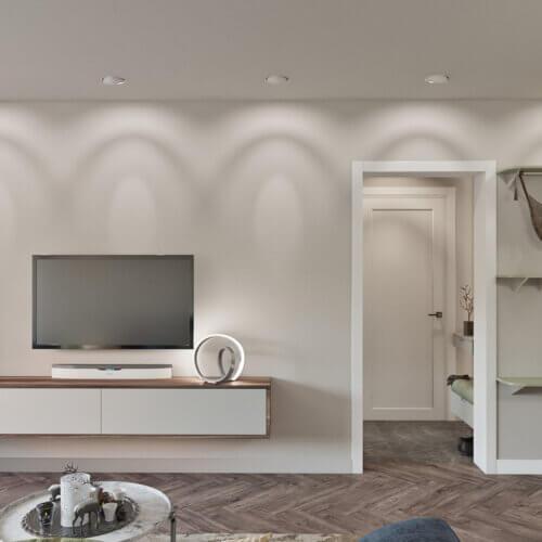 дизайнерский ремонт квартиры в контемпорари